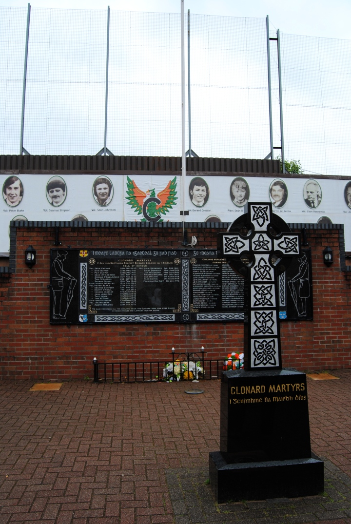 Peace Wall on the Catholic side of West Belfast