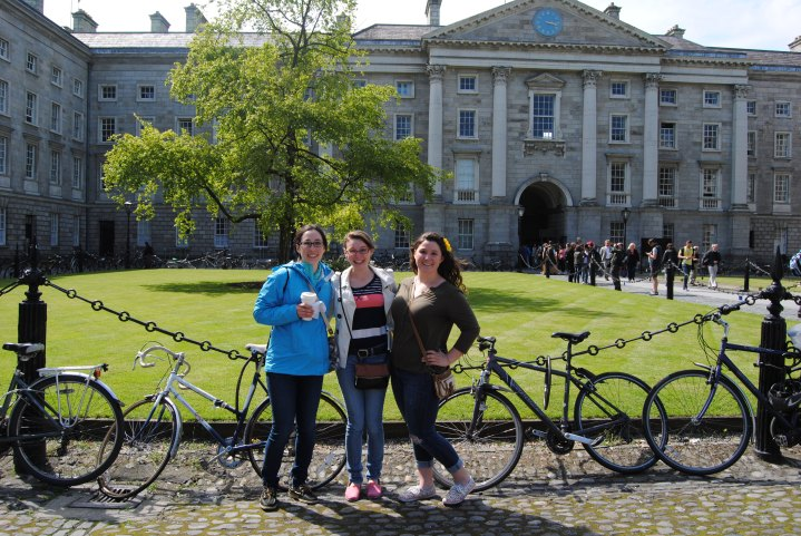 Allie, Sarah and I inside of the Trinity College main campus.