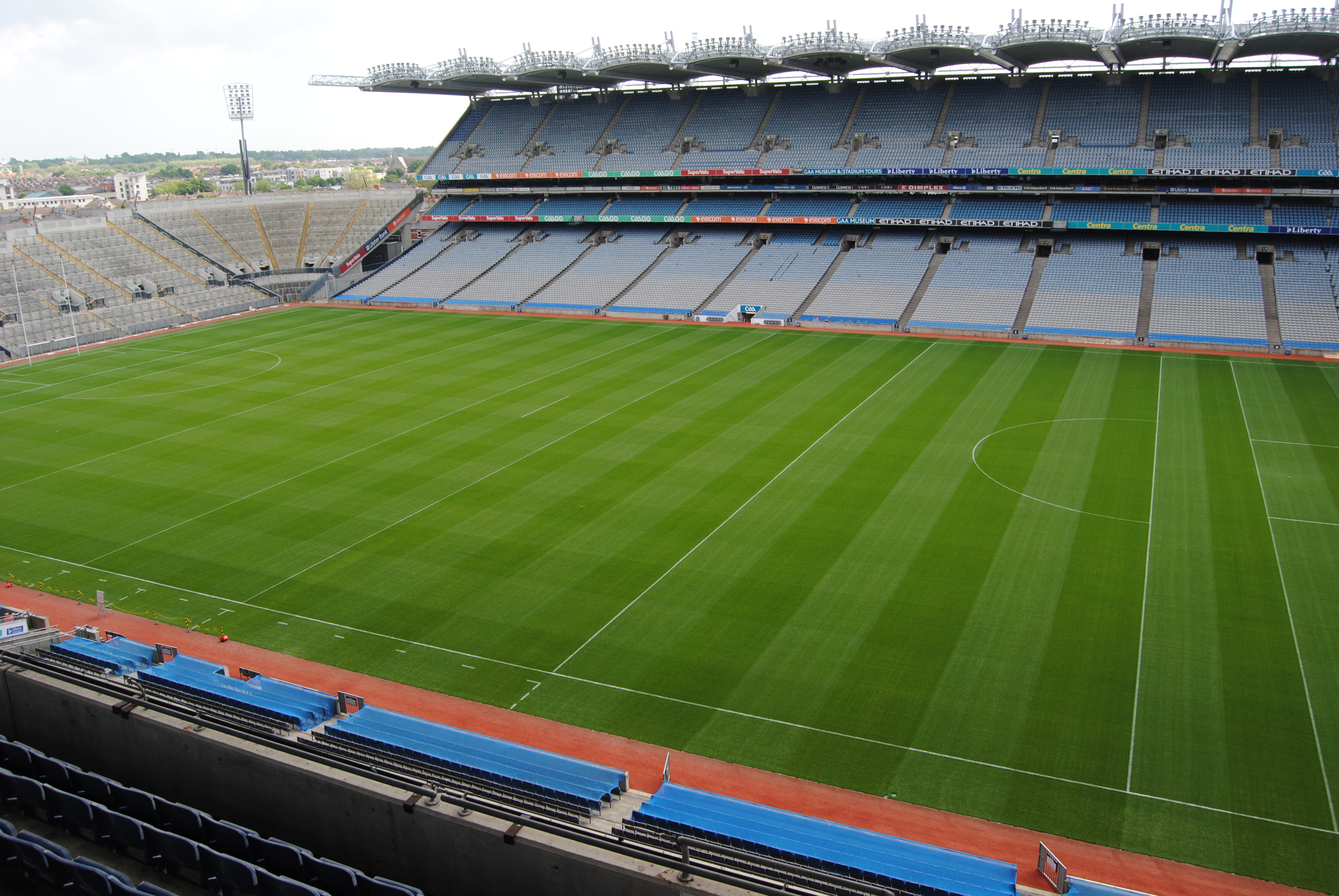 The view of Croke Park from the nosebleed seats!
