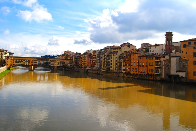 View from the Ponte Vecchion.