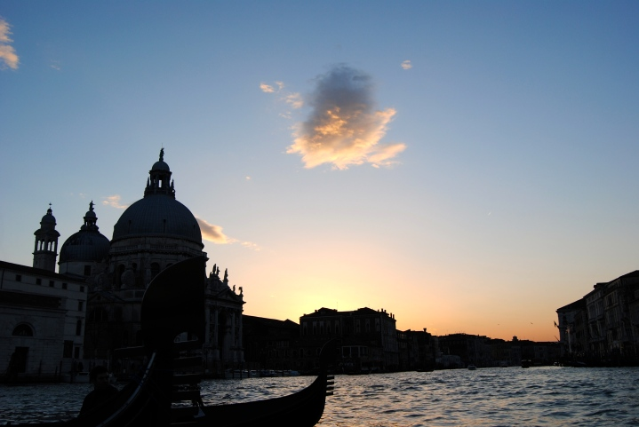 Sunset on the Grand Canal.