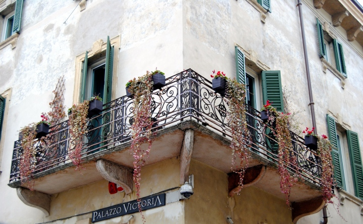 One of the many beautiful terraces in Verona.
