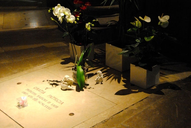 Grace Kelly's grave.