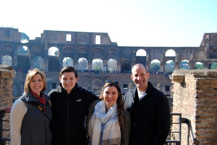 Family inside the Colosseum!