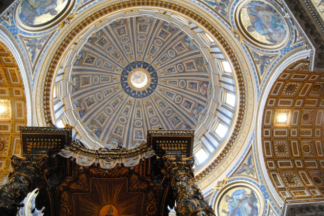 Ceiling and Dome above the altar.