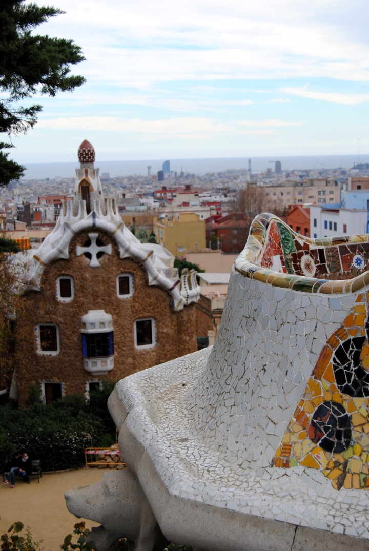View of Barcelona from park Güell.