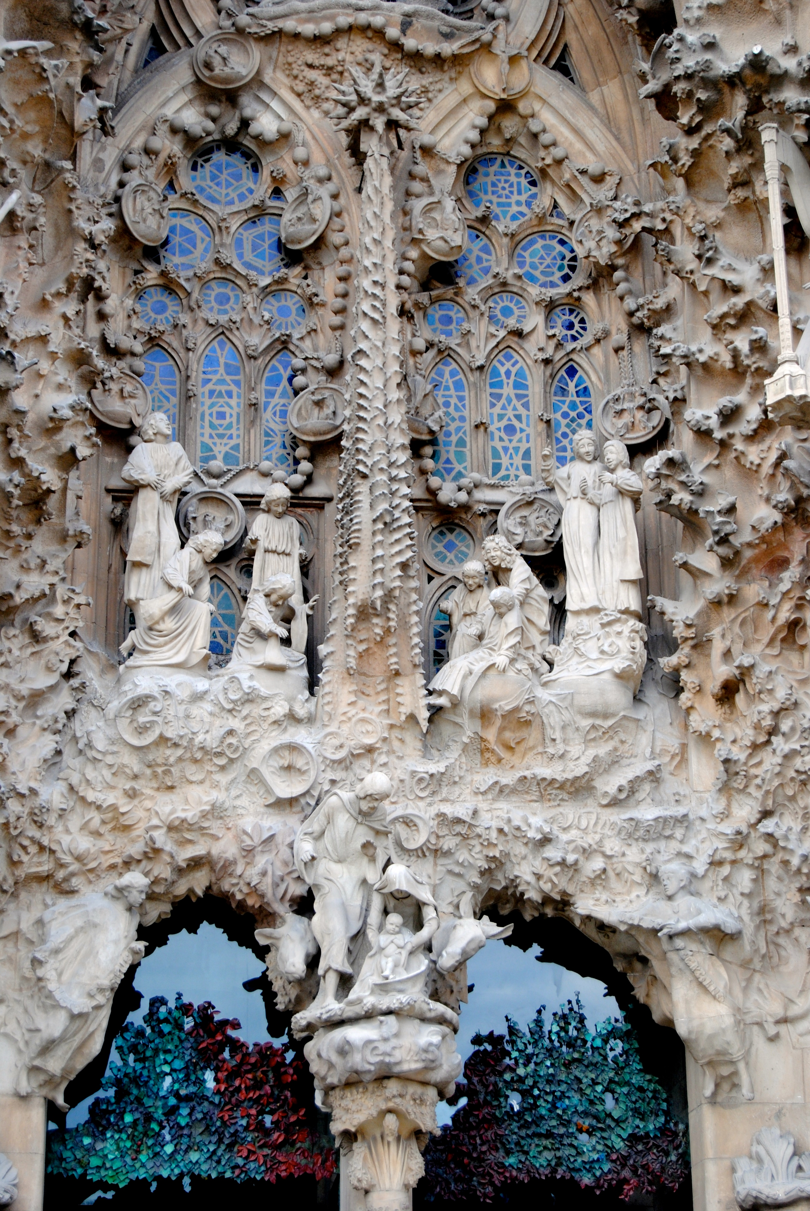 Nativity Scene exterior of the Sagrada Familia.