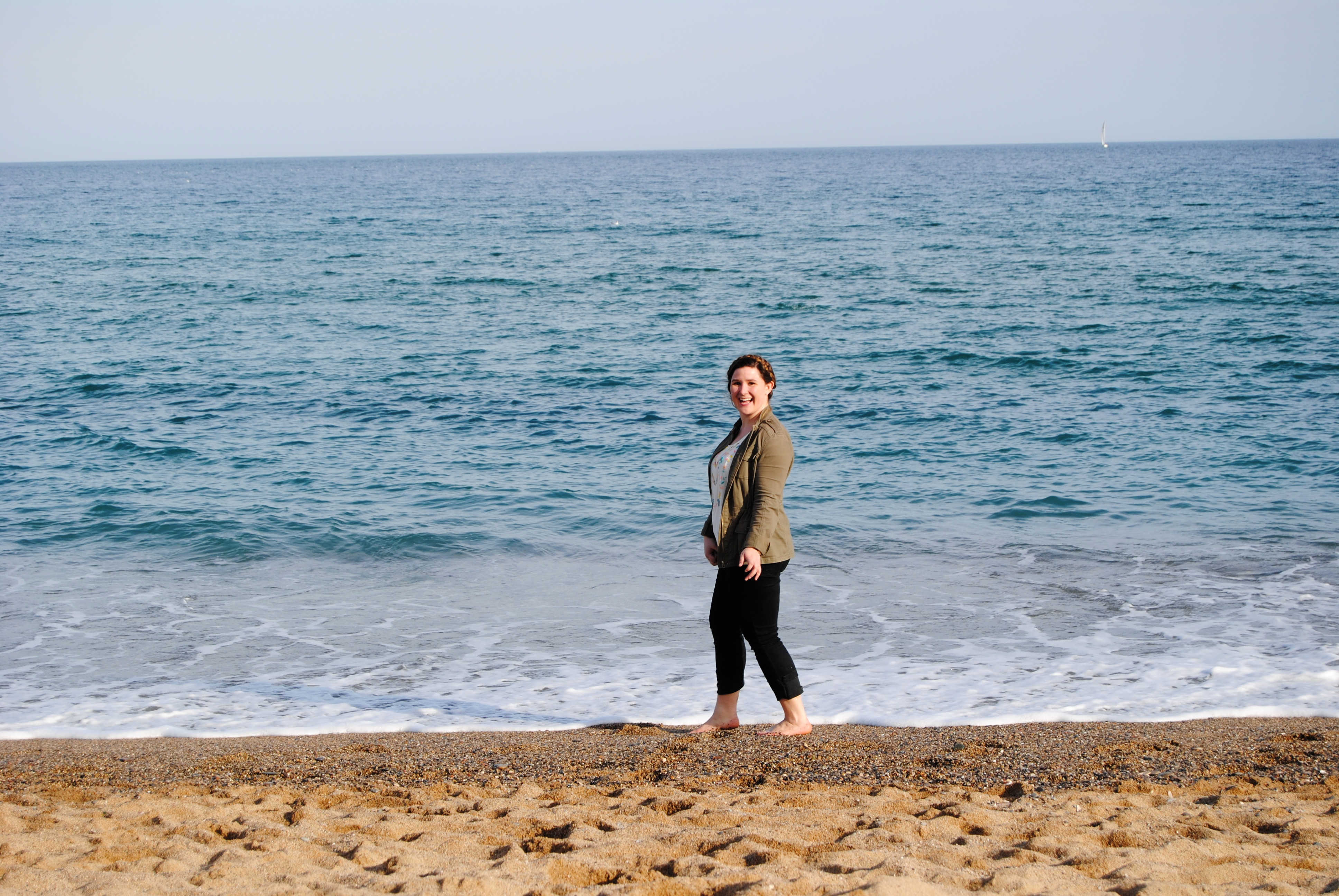 Enjoying the Mediterranean in March.