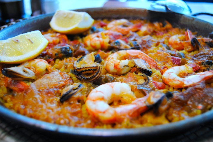 Our seafood paella.