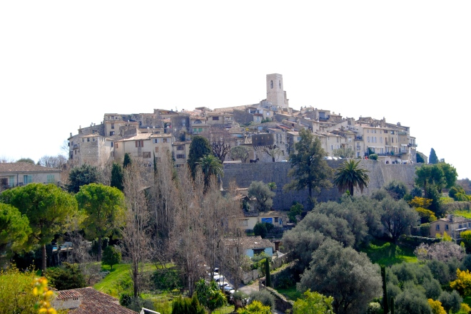 View of the town of St. Paul de Vence.