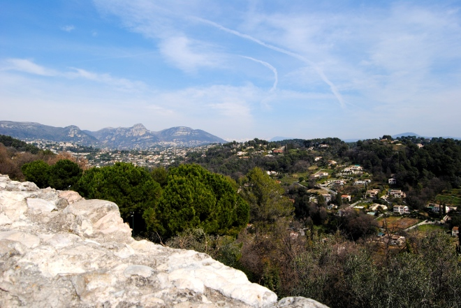 View from the outlook in St. Paul de Vence.