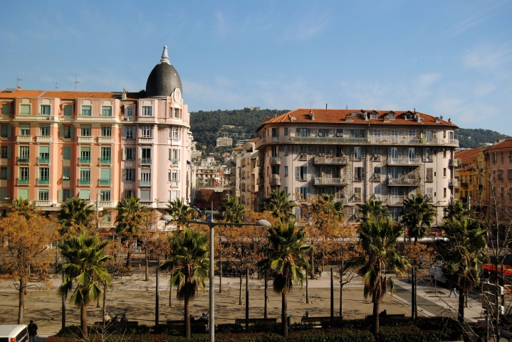 View of Nice from out hotel room.