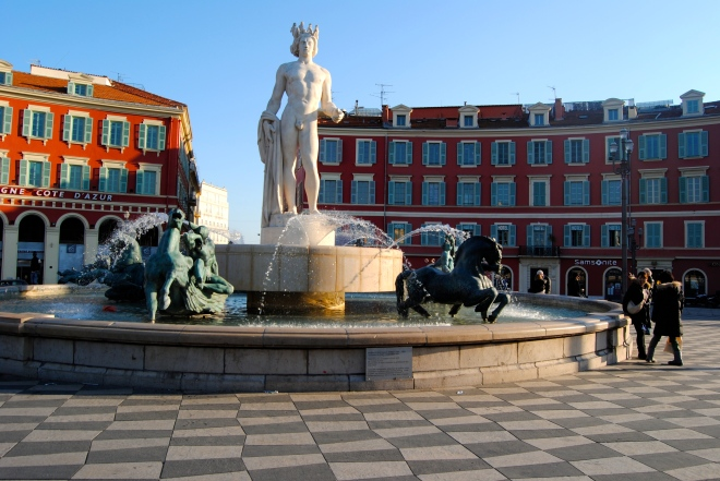 One of the main squares in Nice.