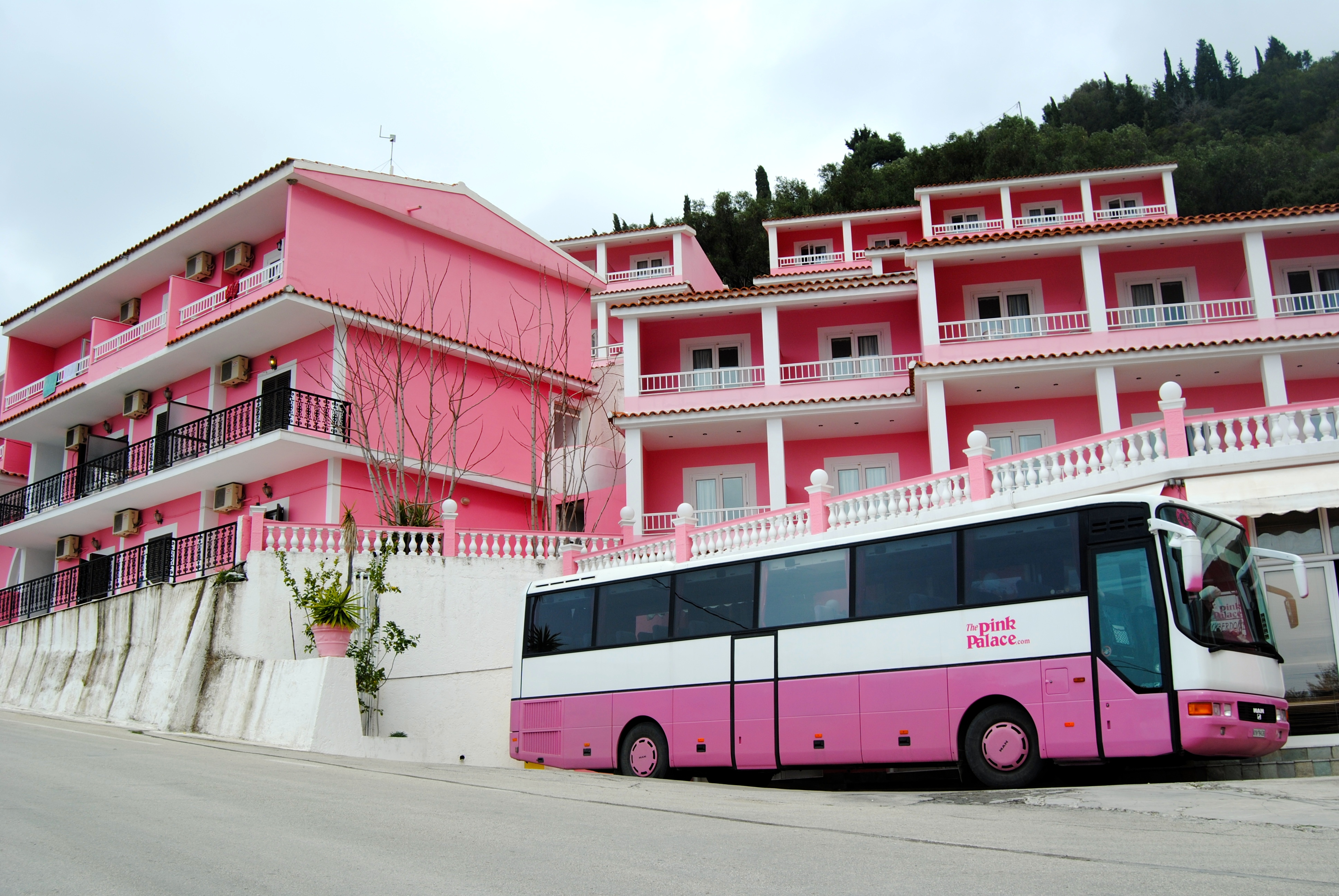 The Pink Palace.