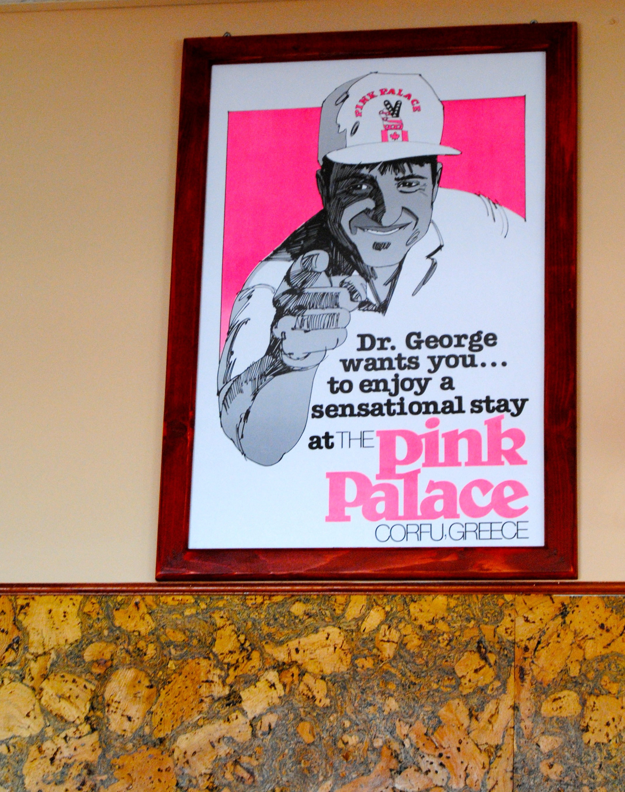 Dr. George's poster in reception.
