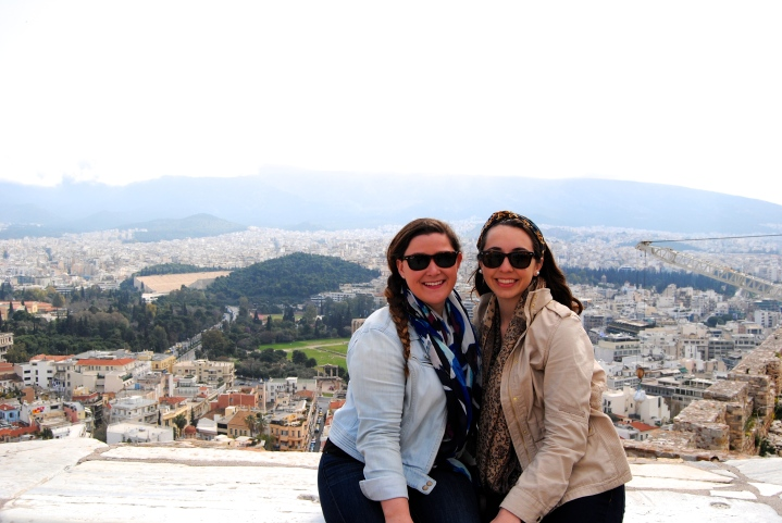 Melissa and I at one of the many outlook points atop the Acropolis.
