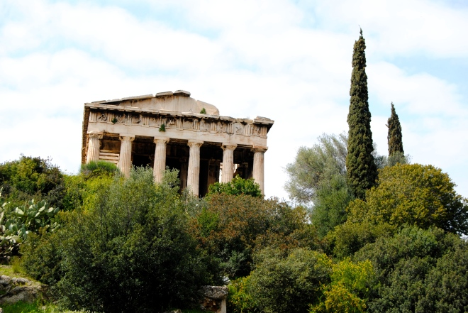 A temple in the Greek Agora.