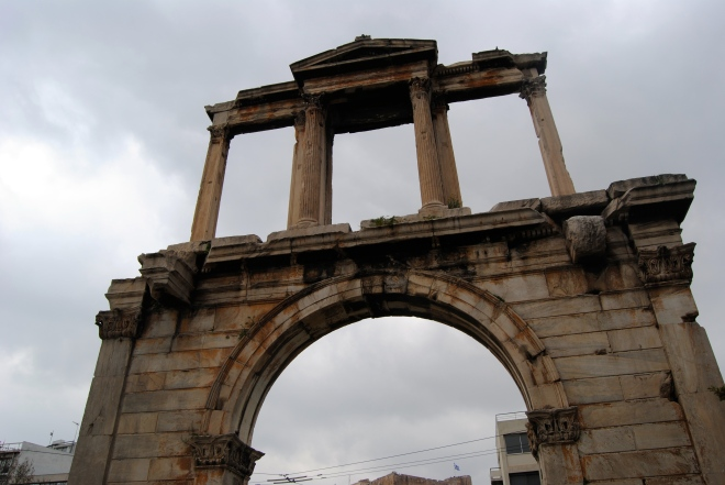 Hadrian's Gate outside of the Greek Olympiad.