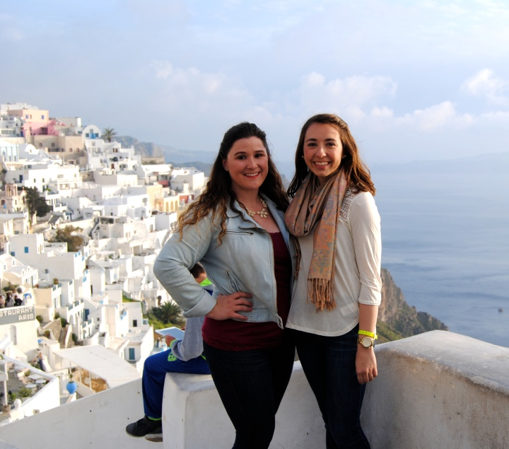 Mel and I on the first night in Santorini.