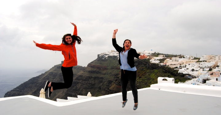 Jumping pics by the cliffside.
