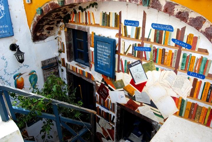 The bookstore in Oia.