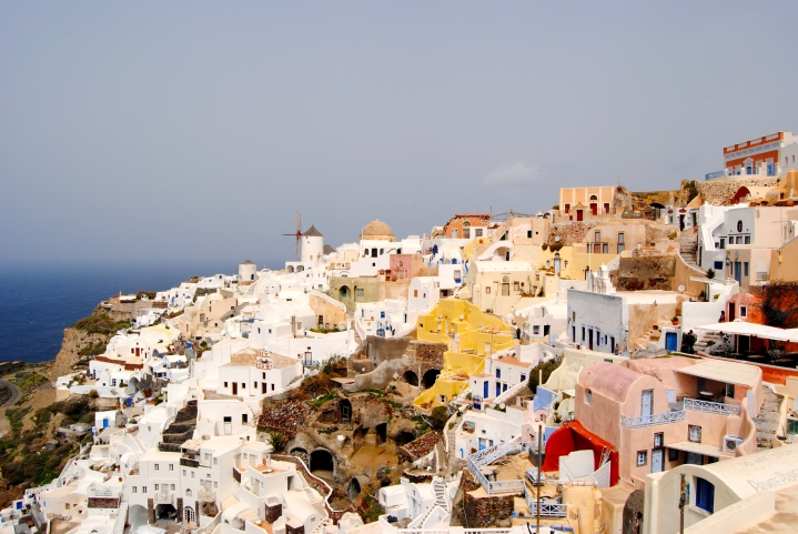 Another view of Oia with the ocean in the background.