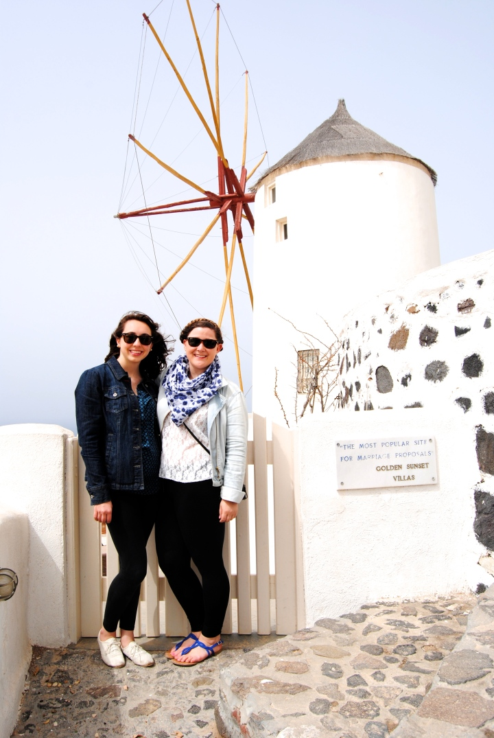 Mel and I in front of the windmill.
