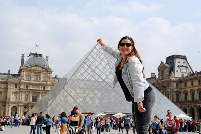 Holding up the Louvre...or something like that.