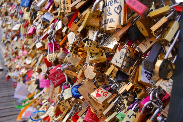 What was viewable of the Love Lock bridge.