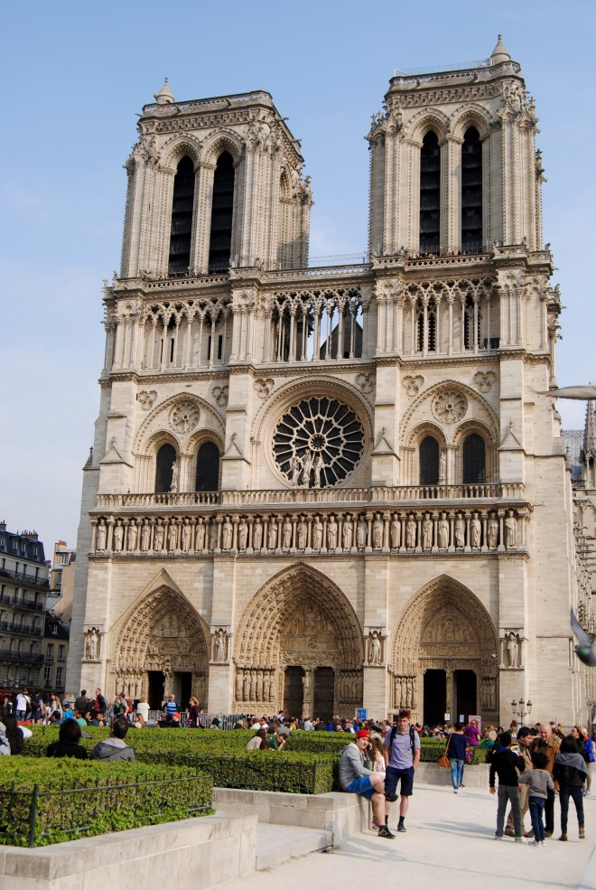 The outside of Notre Dame.