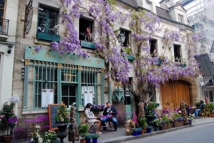 My favorite and one of the many charming streets in Paris.