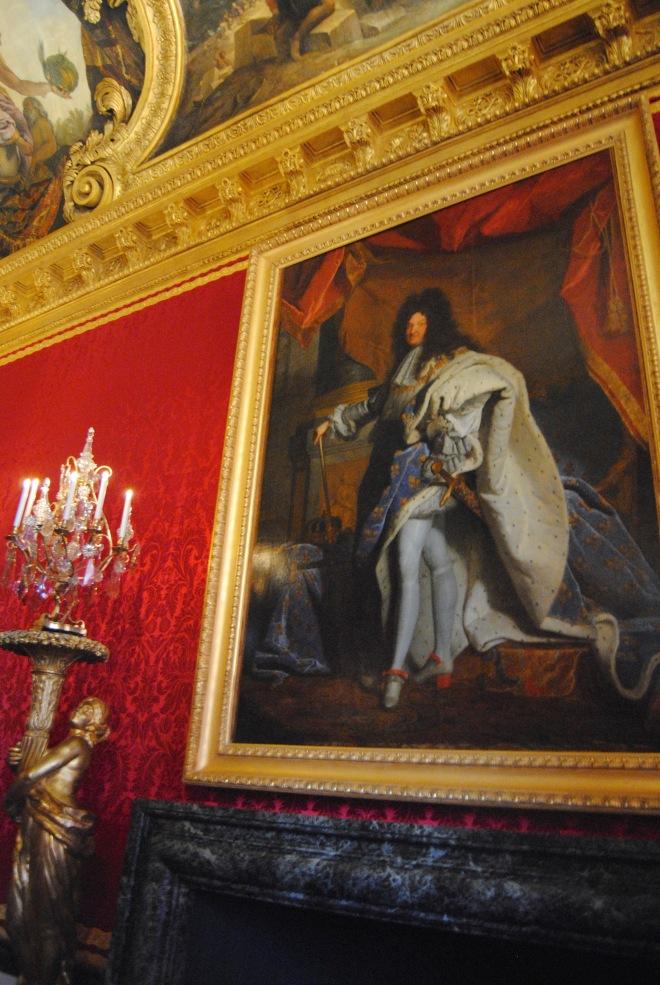 Louis XIV's portrait in his room.