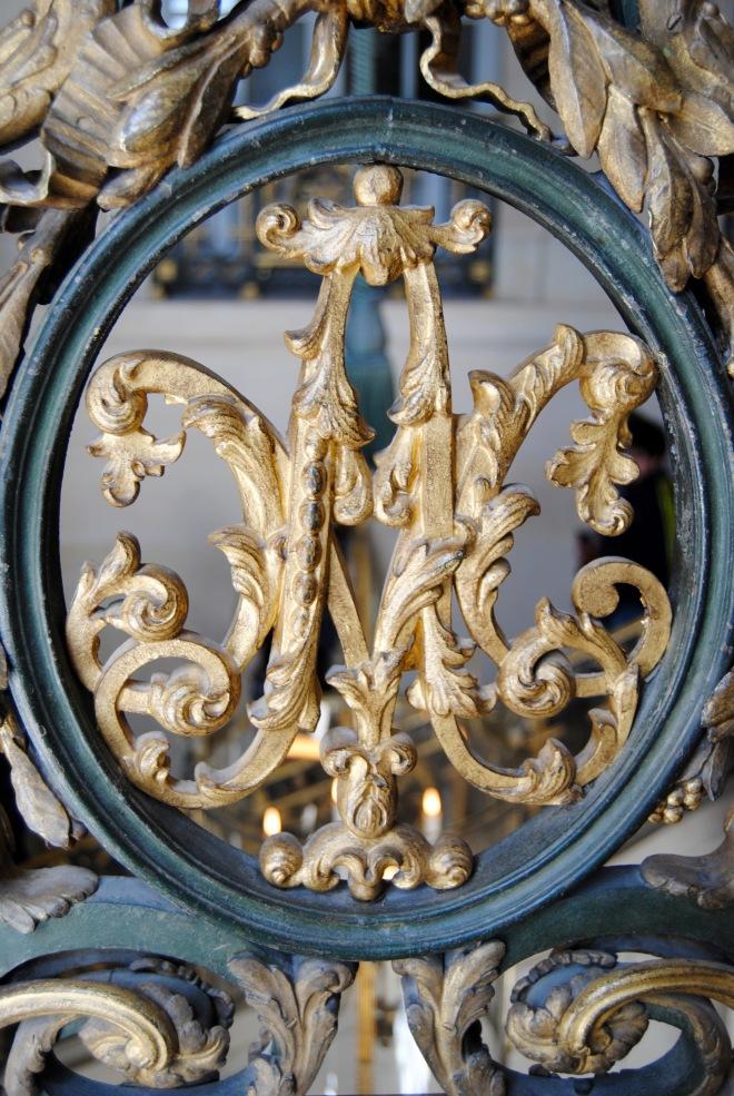 Marie Antoinette's monogram along the interior of the Grand Trianon.