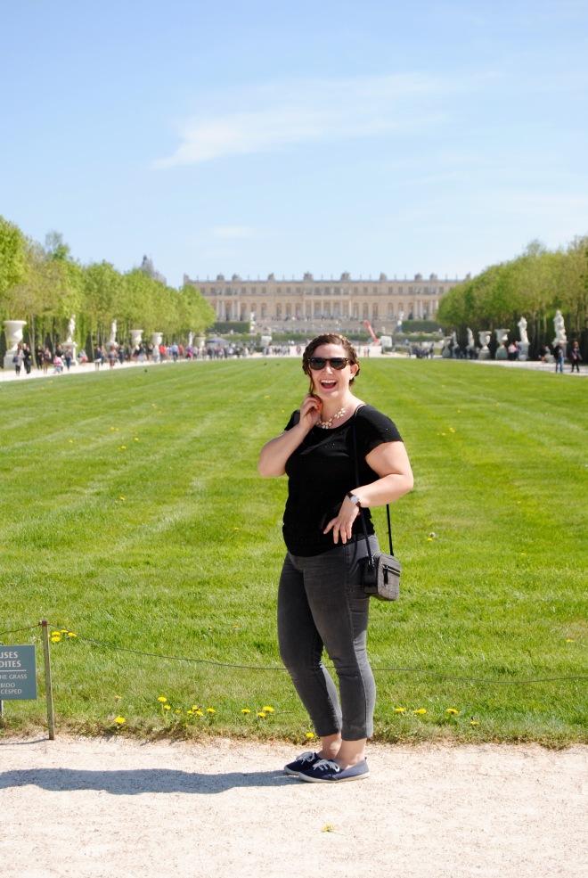 All smiles at Versailles.