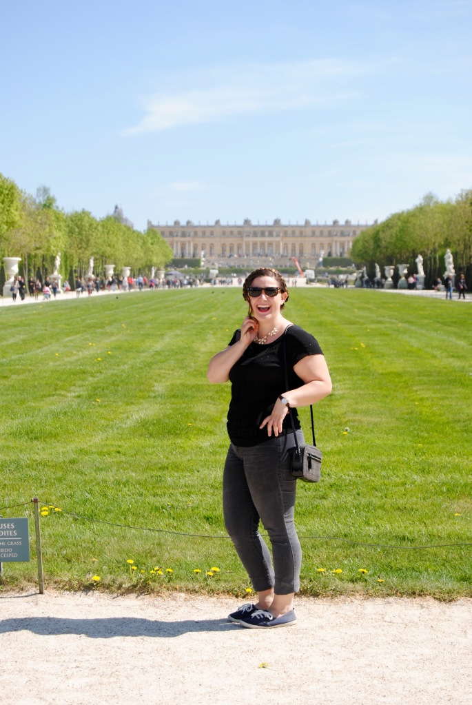 All smiles at Versailles.