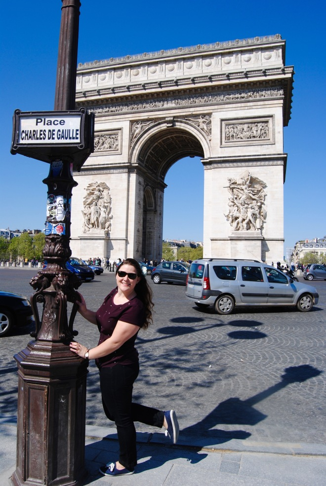 The Arc de Triomphe.