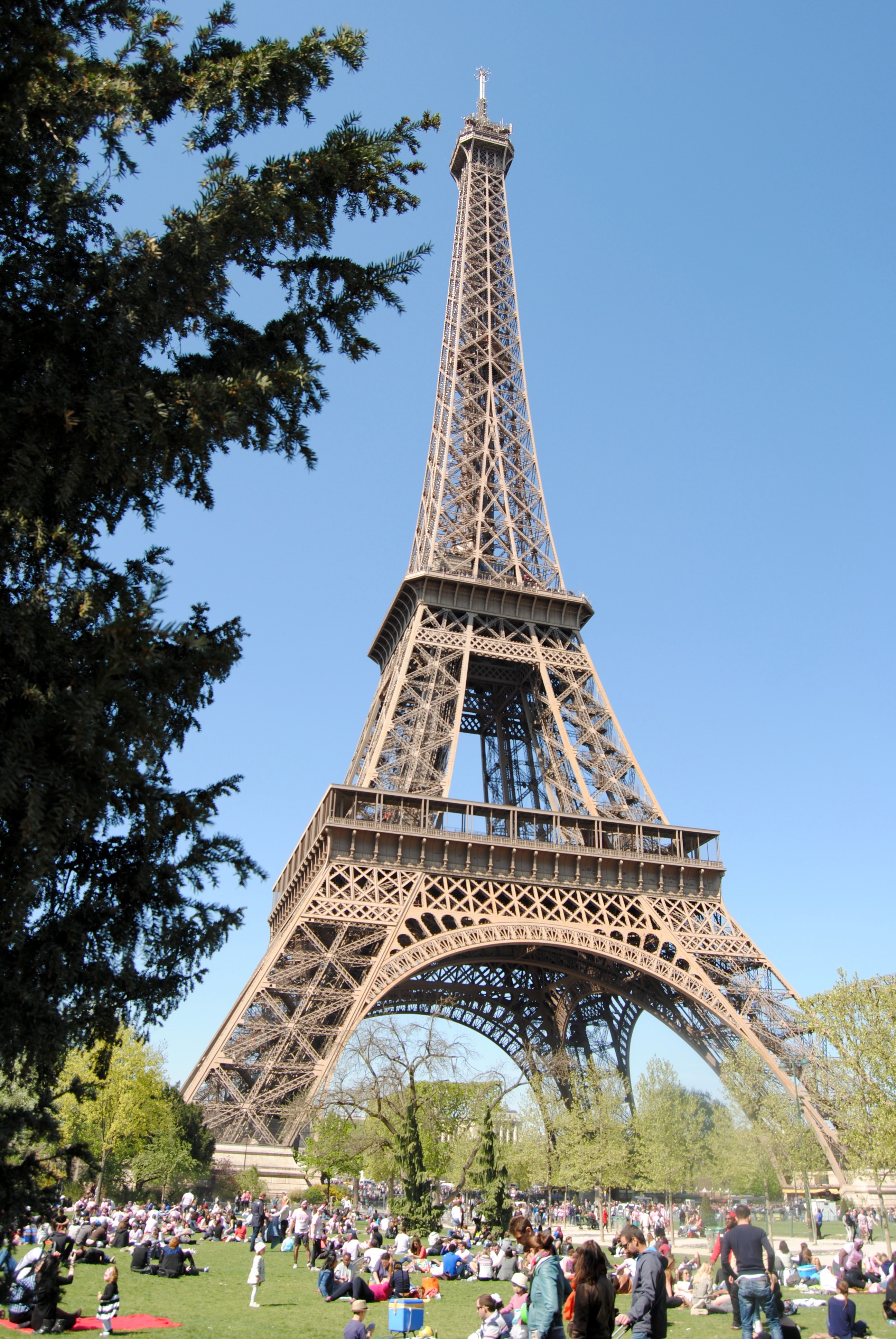 The Eiffel Tower in all its glory.