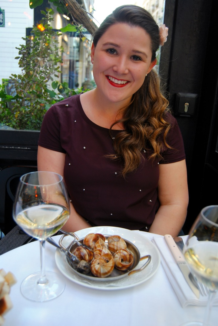 My hands down favorite moment of the weekend was eating escargot.