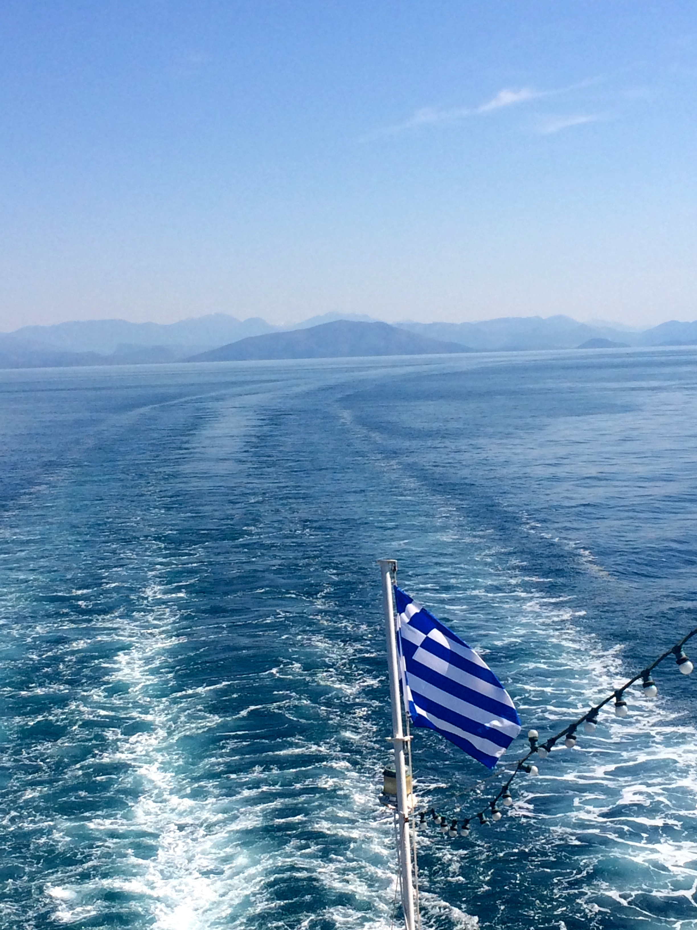 Our ferry headed for Corfu.