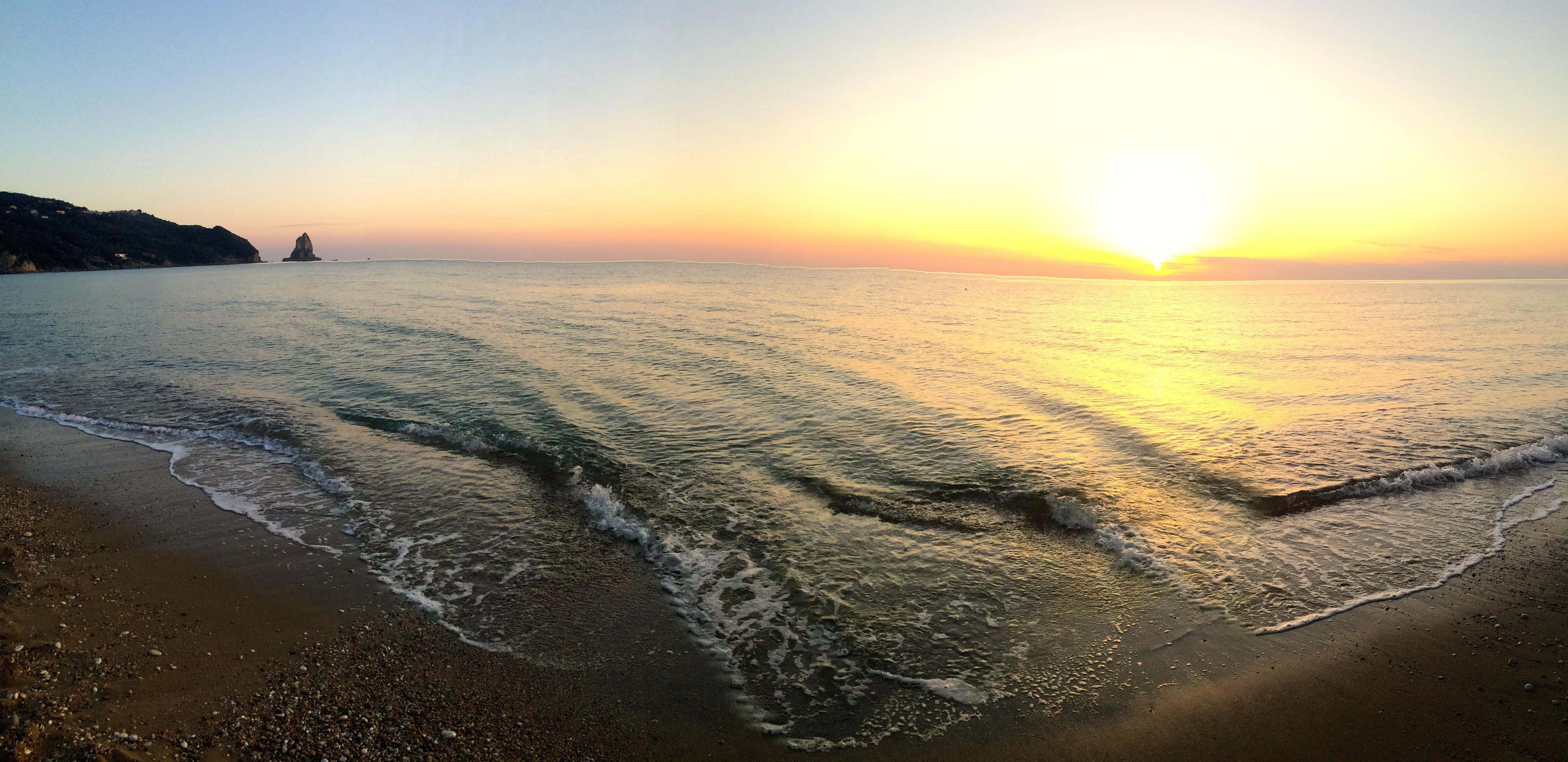 Agios Giordios beach in Corfu.