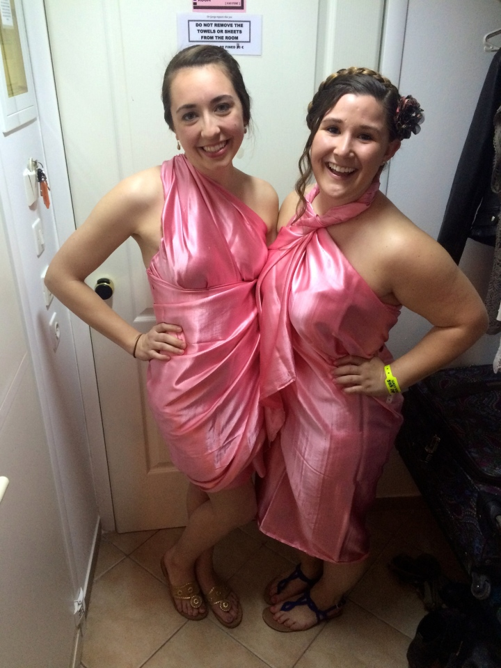 Me and Melissa's professional looking togas.