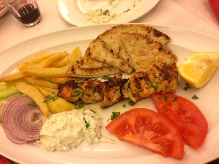 My min dish, chicken souvlaki.