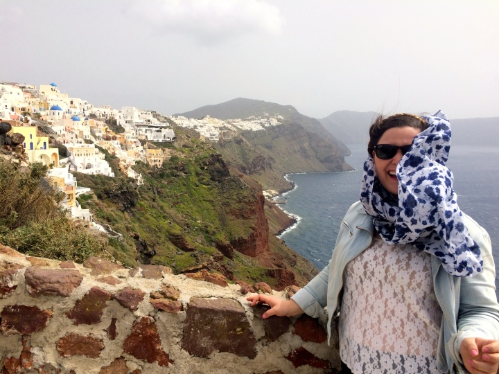 It was quite windy in Oia on the day we went back.
