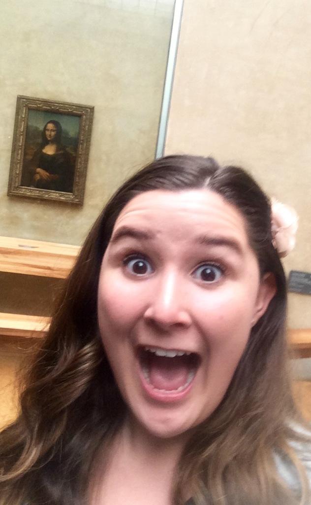 My selfie with Mona.