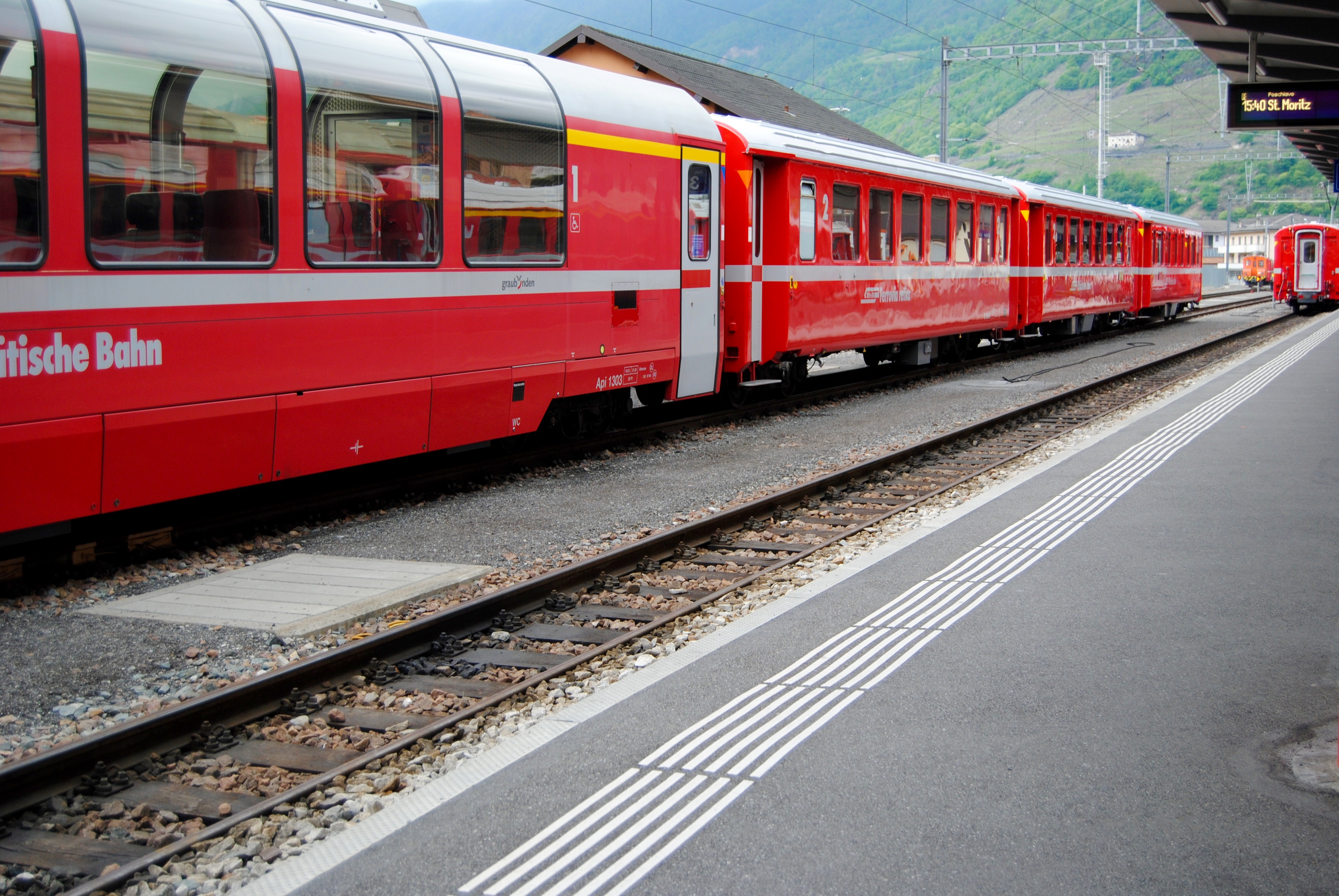 The Bernina train.