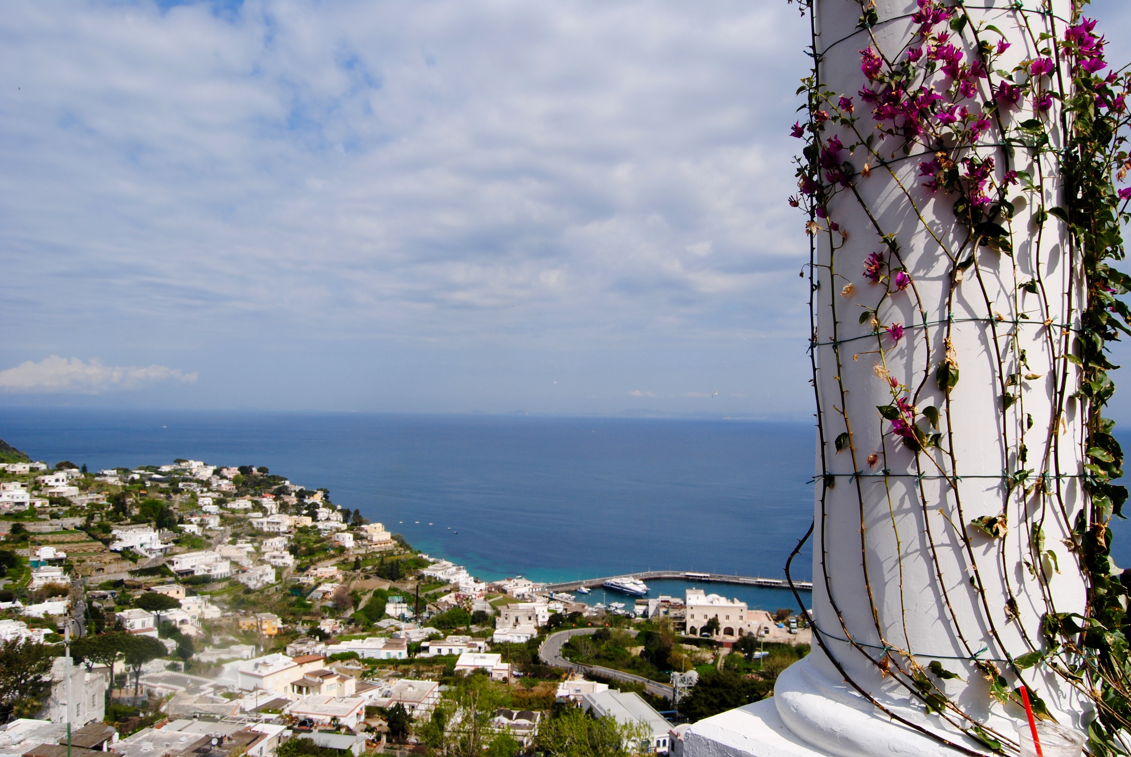 The view from Capri.
