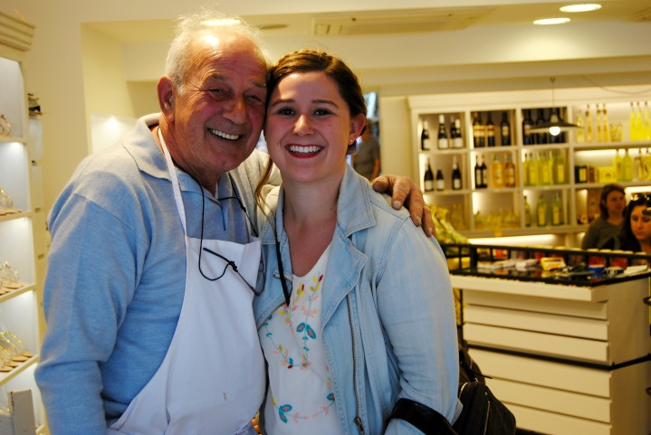 Me and Salvatore. The most adorable old Italian man.