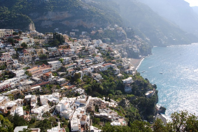 View from the top of Positano.